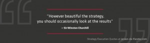 Awesome Strategy execution quotes - However beautiful the strategy, you should occasionally look at the results - Sir Winston Churchill
