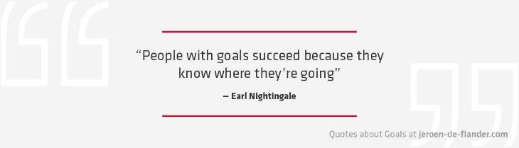 "Quotes about Goals - ""People with goals succeed because they know where they're going."" _Earl Nightingale"
