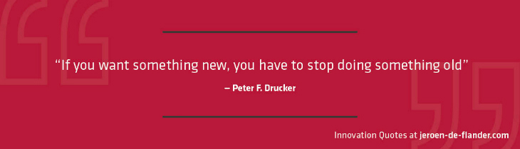 "Quotes on Innovation - ""If you want something new, you have to stop doing something old."" _Peter F. Drucker"