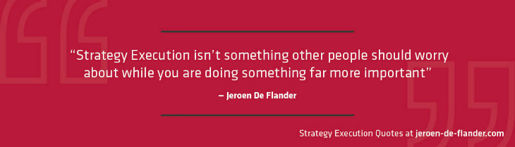 strategist - skills: also strategy execution should be high on the agenda of a strategist - Jeroen De Flander